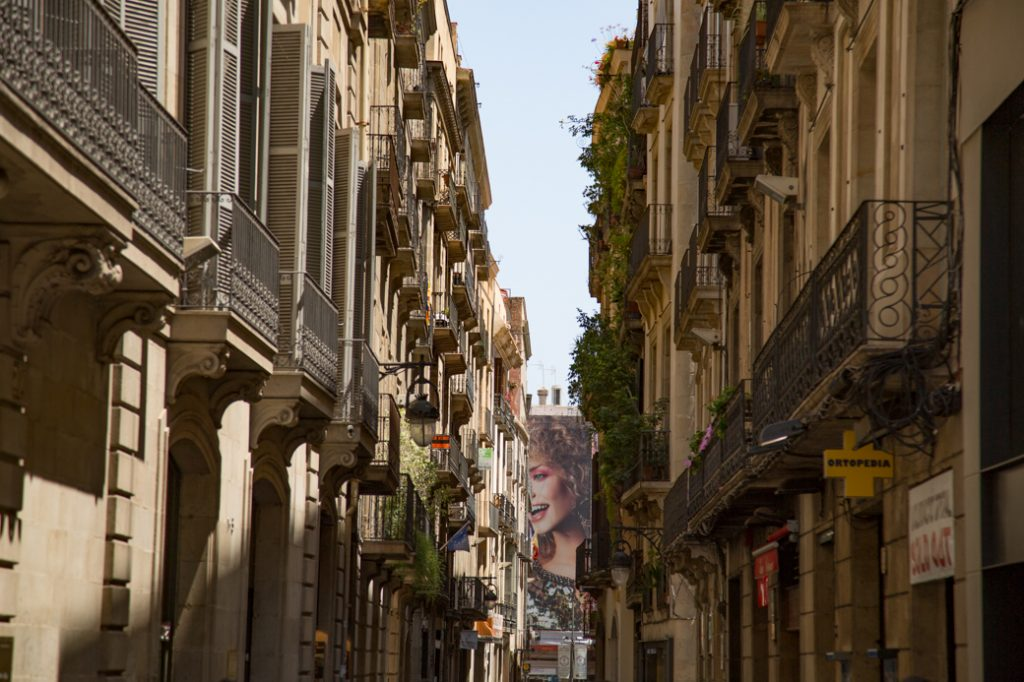 De oude binnenstad van Barcelona