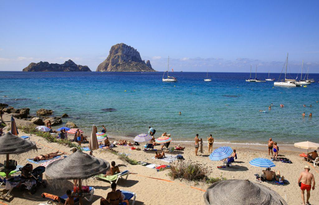 Baaien en stranden op Ibiza